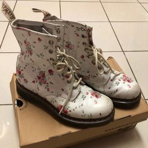 Rose Patterned Dr. Martens 1460 Boots